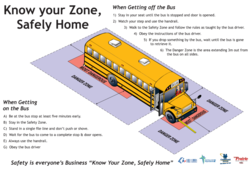 School bus safe boarding poster