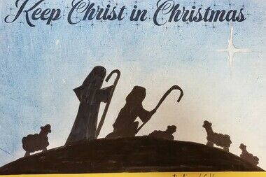 Keep Christ in Christmas Poster