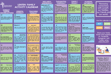 Lenten Family Activity Calendar